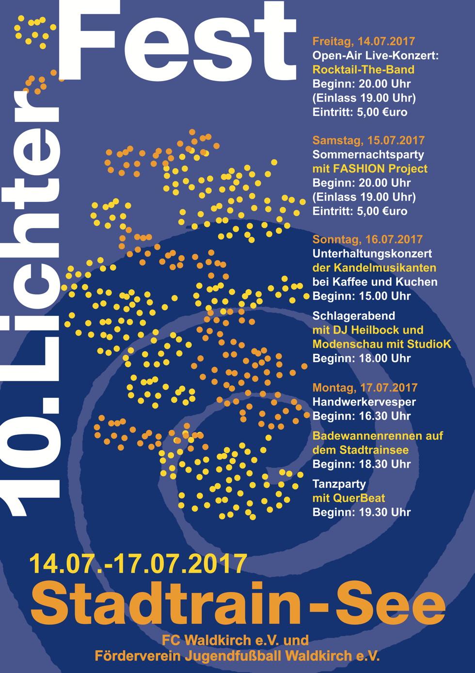 10. Lichterfest Waldkirch Stadtrainsee